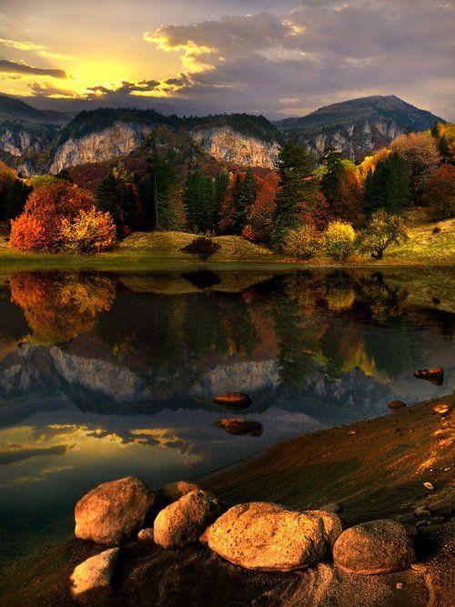 http://wanderlusteurope.tumblr.com/post/18998449672/early-autumn-lake-bulgaria  pp Bulgaria