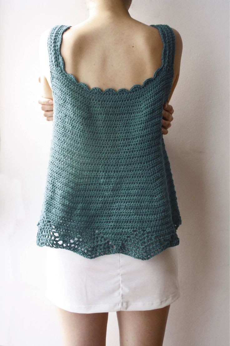 Blusa verde, tejido crochet artesanal.