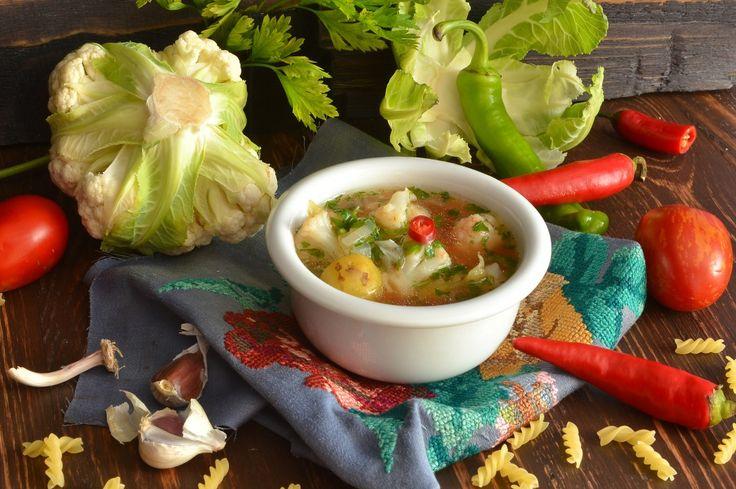 Вегетарианский суп с цветной капустой. Пошаговый рецепт с фото - Ботаничка.ru