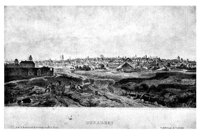 București, la mijlocul secolului al 19-lea