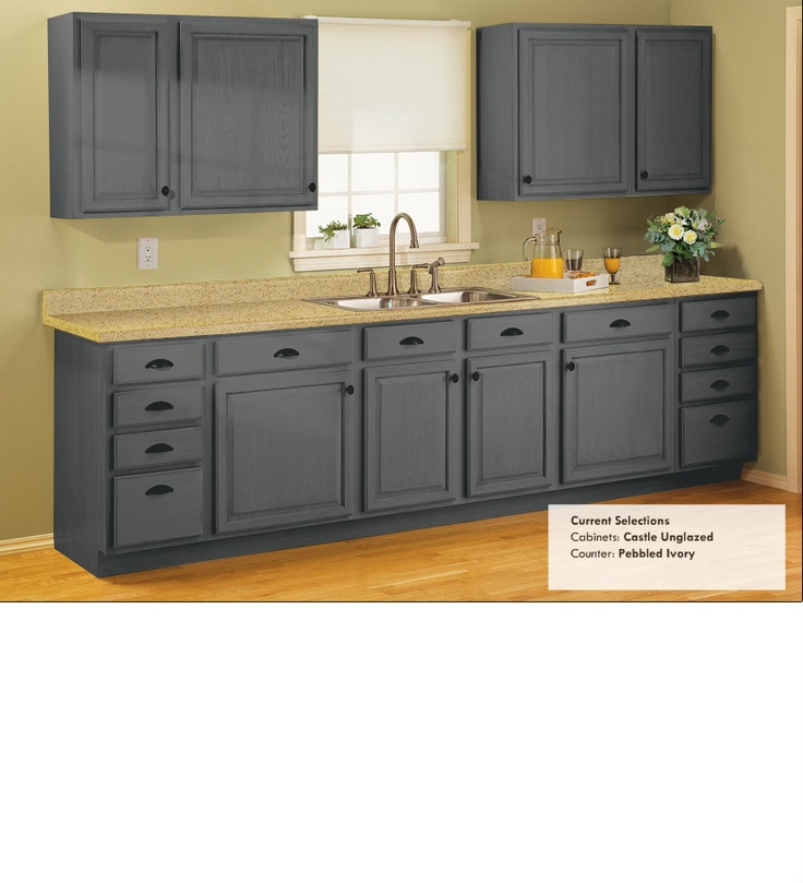 Castle unglazed light counter good contrast like the for Castle kitchen cabinets