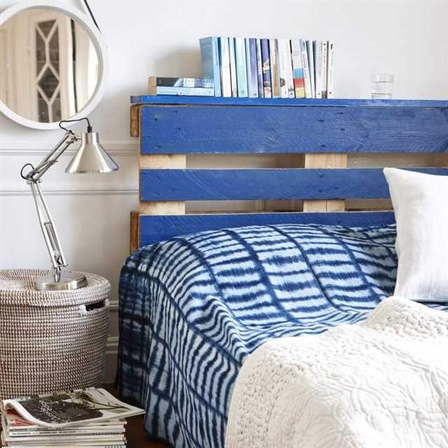 Sänggavel av lastpallar