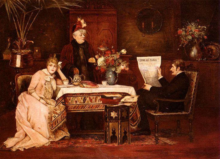 Mihaly Munkacsy (1844-1900)Trop De BelleMere