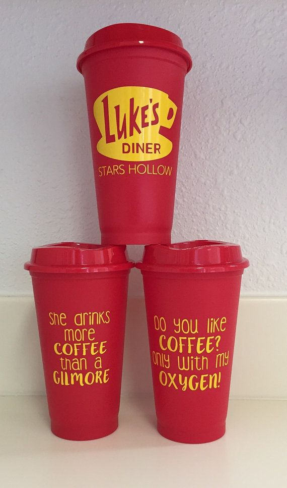 Who doesnt love Gilmore Girls and coffee? Lukes diner 16oz travel coffee mug ready just in time for a new season. Perfect present for any