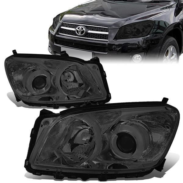 09 12 Toyota Rav4 Smoked Housing Clear Corner Projector Headlights