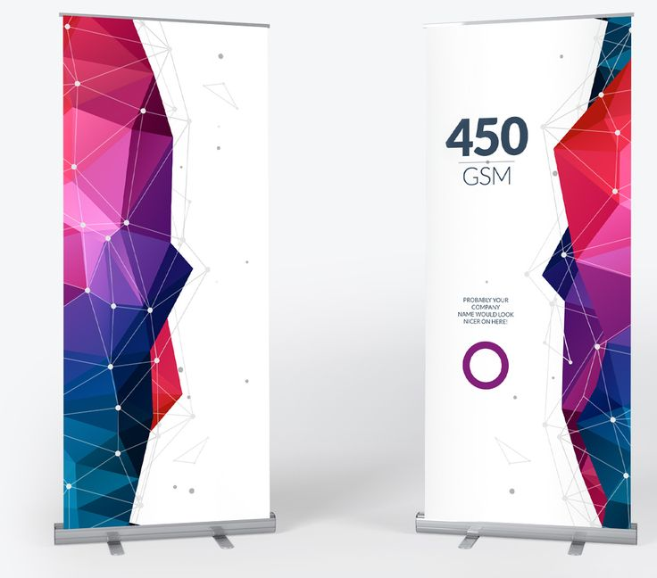 Standard, wide and double-sided pull up banners with stand and carry case - Free delivery!