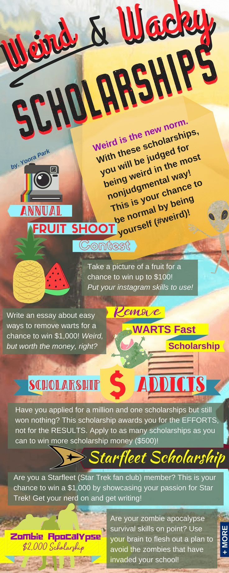 Weird is the new norm. With these #scholarships, you will be judged for being weird in the most nonjudgmental way! This is your chance to be normal by being yourself (#weird)!