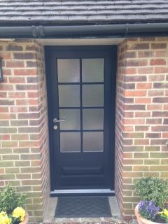 Bardwell style timber door in Black featuring Kathedral glass and astragal bars. Also with stainless & 27 best Timber Entrance Doors images on Pinterest Pezcame.Com