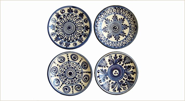 blue and white small Szász plates