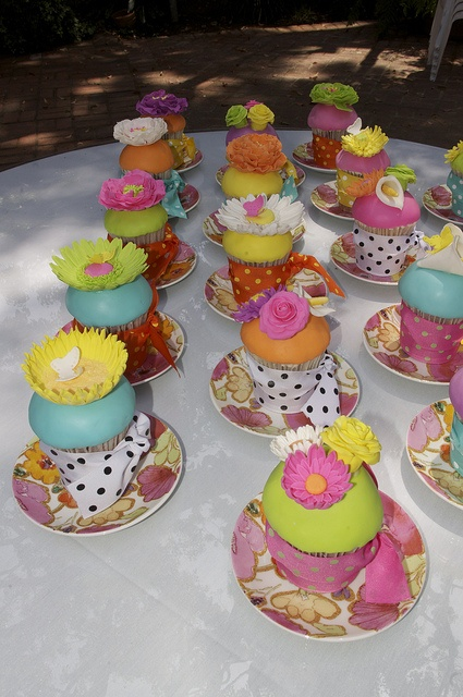 gumpaste flowers on fondant covered cupcakes from RooneyGirlBakeShop by RooneyGirl BakeShop, via Flickr