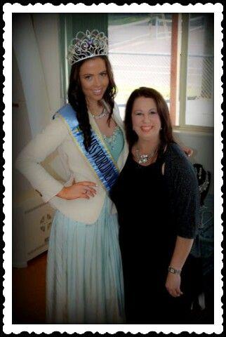 Miss World NZ 2013; Ella Langsford and Anita @Joan Massey and Aqua Jewels fundraiser.