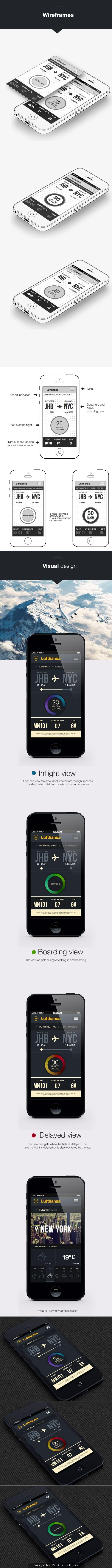 Lufthansa flight tracking app IOS7