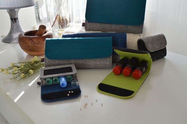 ... und nochmals neue Taschenapotheken aus Wollfilz.