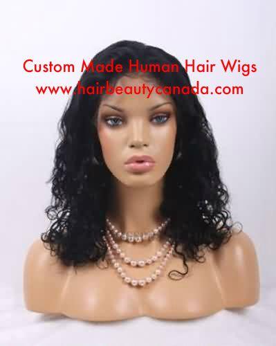 Black Curly Wig Custom Made 18 inches   #customwigs #humanhairwigs #medicalwigs #health #hairloss #wigs #humanhair #hairrestoration #cancer #cancerwigs #wigscanada #curlyhair #blackhair
