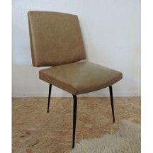 Fauteuil skaï des années 50-60 d'occasion #fauteuil #skai #50 #60 #occasion #vintage #kaki
