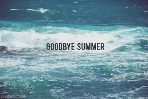 Goodbye summer quotes summer beach water autumn