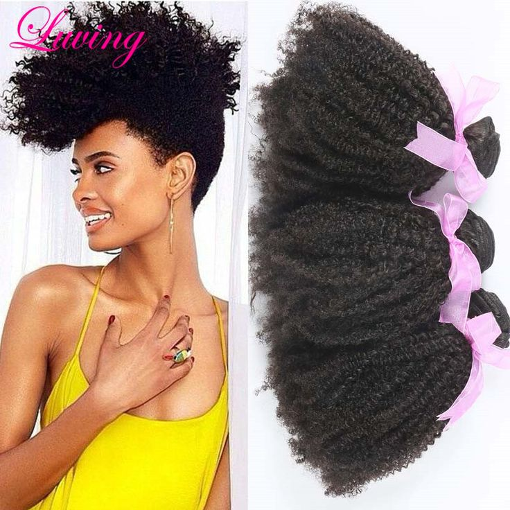 7A Cheap Mongolian Kinky Curly Hair 3pieces/lot Afro Kinky Curly Virgin Hair Natural Black Hair WeavesHair Extension luving Hair