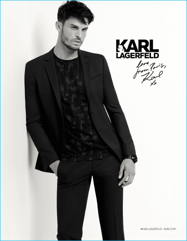 Baptiste Giabiconi stars in Karl Lagerfeld's fall-winter 2016 campaign.
