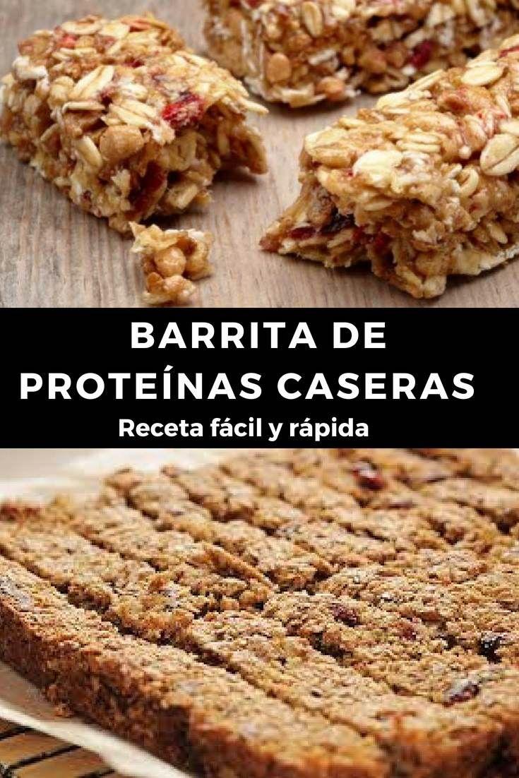 Quieres Preparar Unas Barras De Proteínas Caseras En Solo Algunos Minutos En Este Artículo T Barras Proteina Caseras Barra De Cereal Casera Barra De Proteina