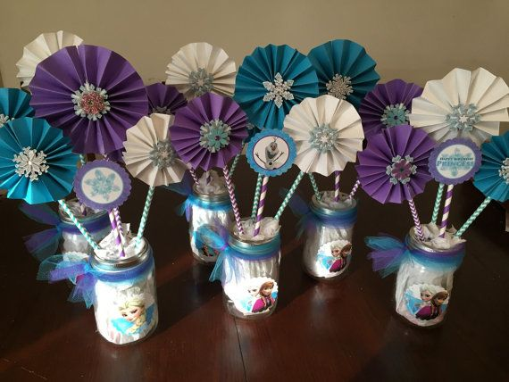 Frozen Centerpieces by YeseniaSerendipity on Etsy