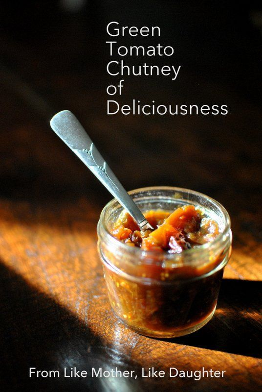 chutney pork chops with tomato chutney green tomato apple chutney ...