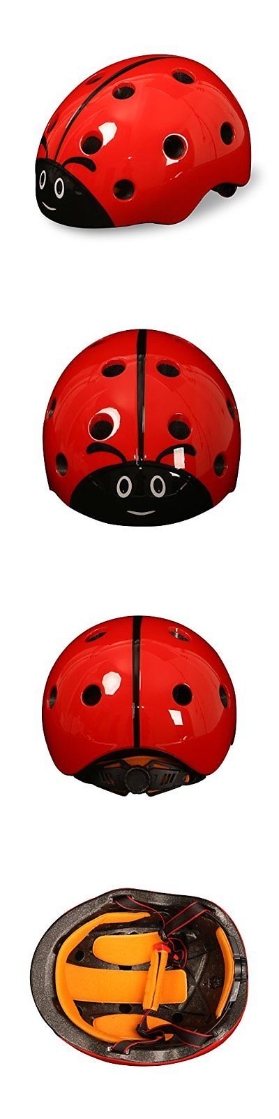 Hats and Headwear 62175: Kids Child Helmet Girls Boys Skiing Cycling Snowboard Bike Safety Ladybug Cute -> BUY IT NOW ONLY: $37.85 on eBay!