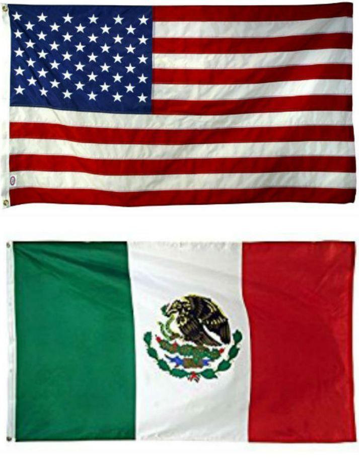 3X5 3'X5' Wholesale Combo Usa American & Mexico Mexican 2