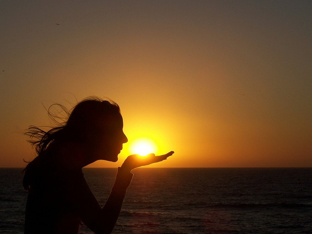 Blowing A Kiss To The Sun