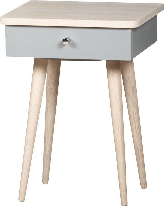 Kommode, byggbar garderobe eller nattbord til soverommetAlnes Nattbord 100hvitpigmentert/Romance grå