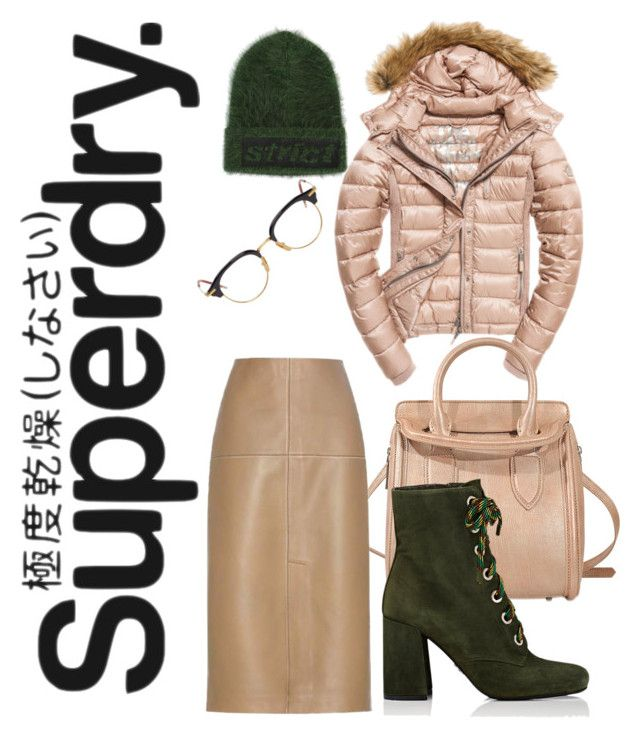 """""""The Cover Up – Jackets by Superdry: Contest Entry"""" by ralugoii on Polyvore featuring Superdry, Fuji, Alexander McQueen, Thom Browne, Alexander Wang, By Malene Birger and Prada"""