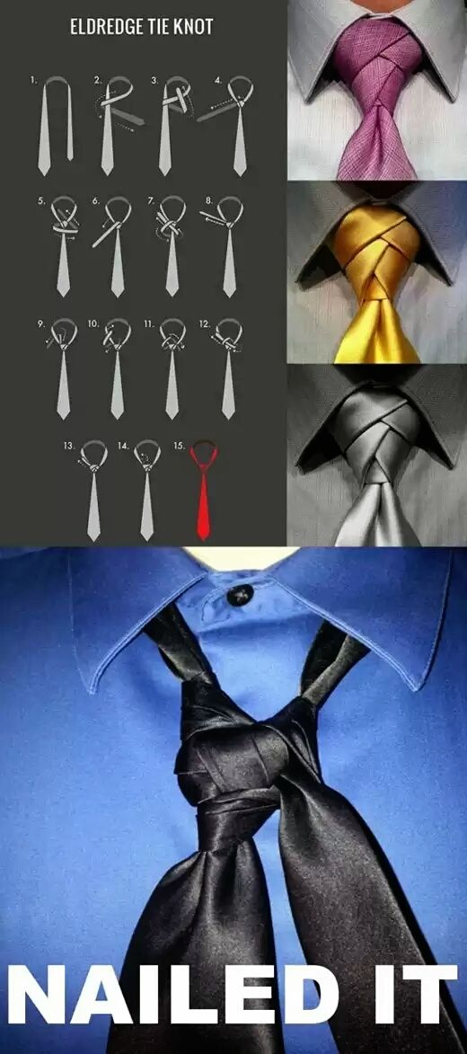 Eldredge tie knot… pretty much what my first couple times looked like when learning for Matt