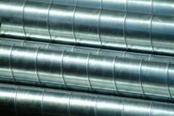 Wickelfalzrohr Stahlblech verzinkt 1m