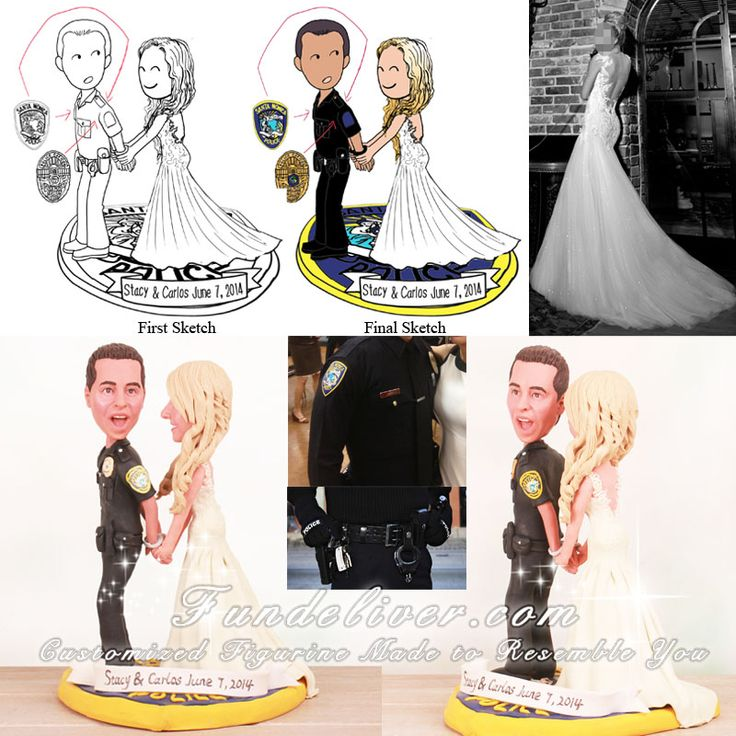 police couple wedding cake toppers placing groom arrest wedding cake 18669