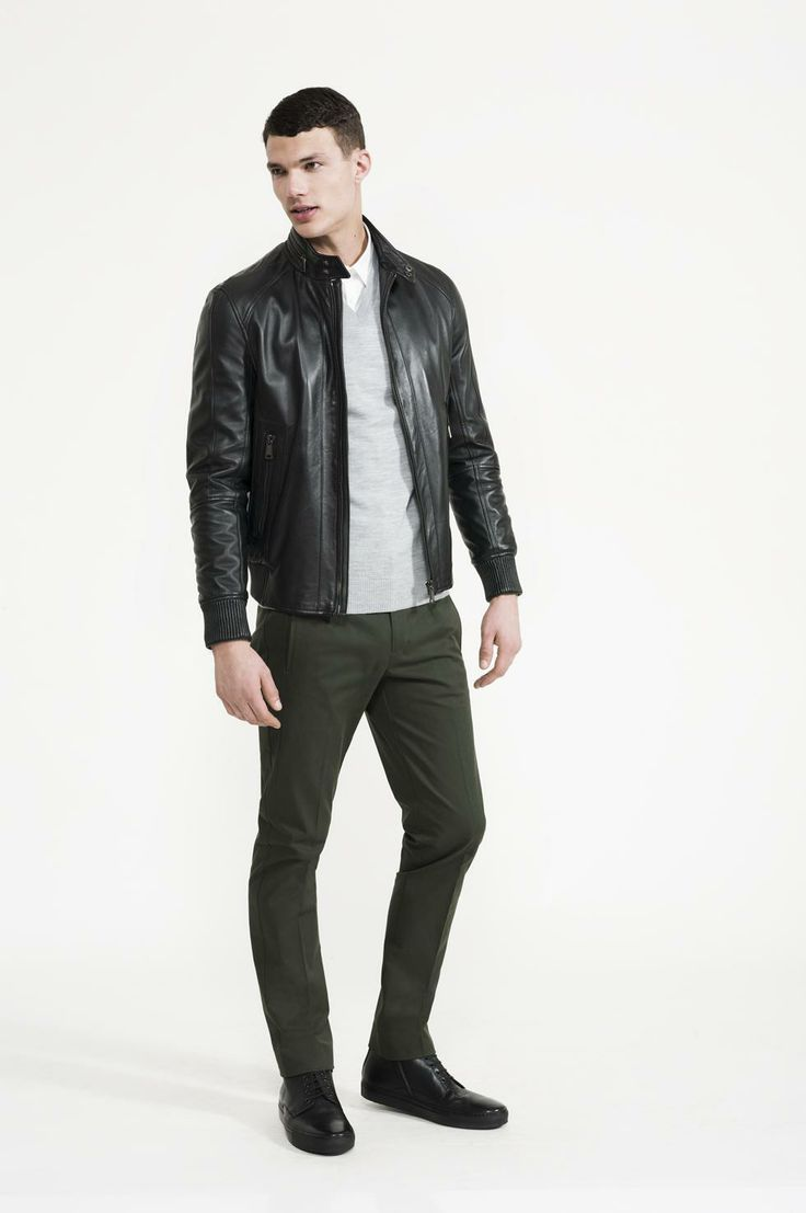 Calibre - Stretch Two Shirt | Leather Bomber | Super Fine V Neck | Forest Pant | Doucal's Sport Boot