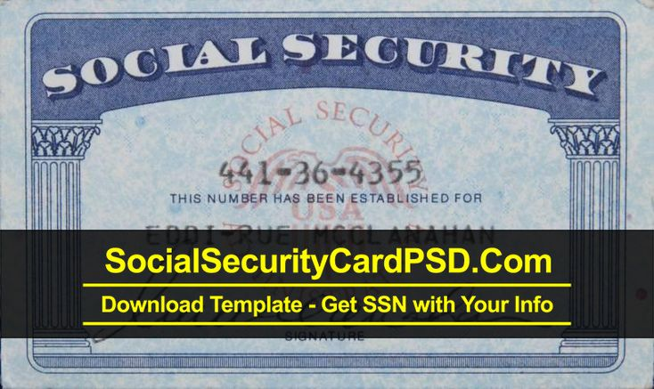 Social Security Card PSD Template Collection 2020 in 2020