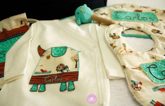 #canastilla #personalizada #conjunto #bebe #infantil #regalos #ideas #nacimiento #celebraciones #patchwork #hechoamano #handmade #FrambuesayLavanda