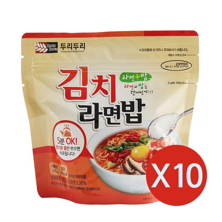 Korean Food Kimchi Noodle&Rice Ramenbap Korean MRE Hot Water Need Only * 10EA | Sporting Goods, Outdoor Sports, Camping & Hiking | eBay!
