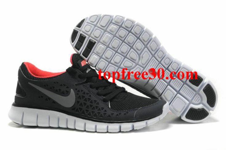 topfree30.com for nikes 50% OFF - Womens Nike Free Run Black Red Shoes