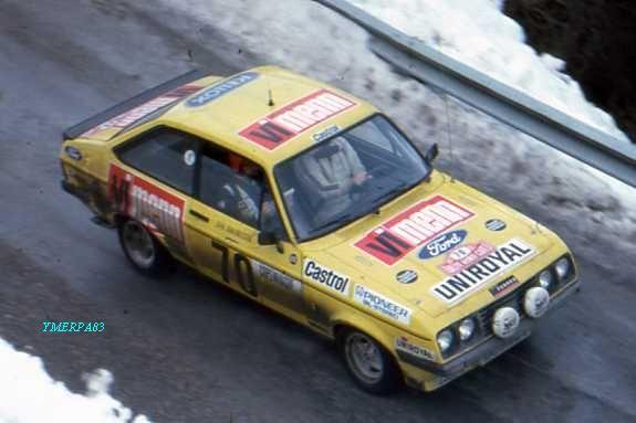 1977 Monte Carlo - FordEscort RS2000M Karlan Monty& J Johansson