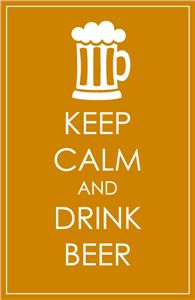 Silhouette Online Store: keep calm drink beer