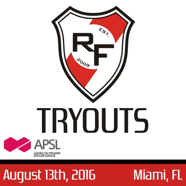 Red Force FC 2016 Tryouts | APSL #Miami #Kendall #soccer