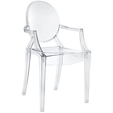 ad-#clearchair  Combine artistic endeavours into a unified vision of harmony and grace with this ethereal chair. Allow bursts of creative energy to reach every aspect of your contemporary living space as this masterpiece reinvents your surroundings. Surprisingly sturdy and durable, it's appropriate for any room or outdoor setting.