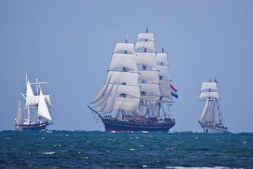 Arrival of the sailing fleet to Melbourne