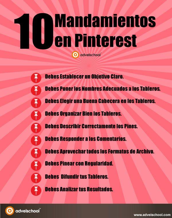 los 10 mandamientos en pinterest....