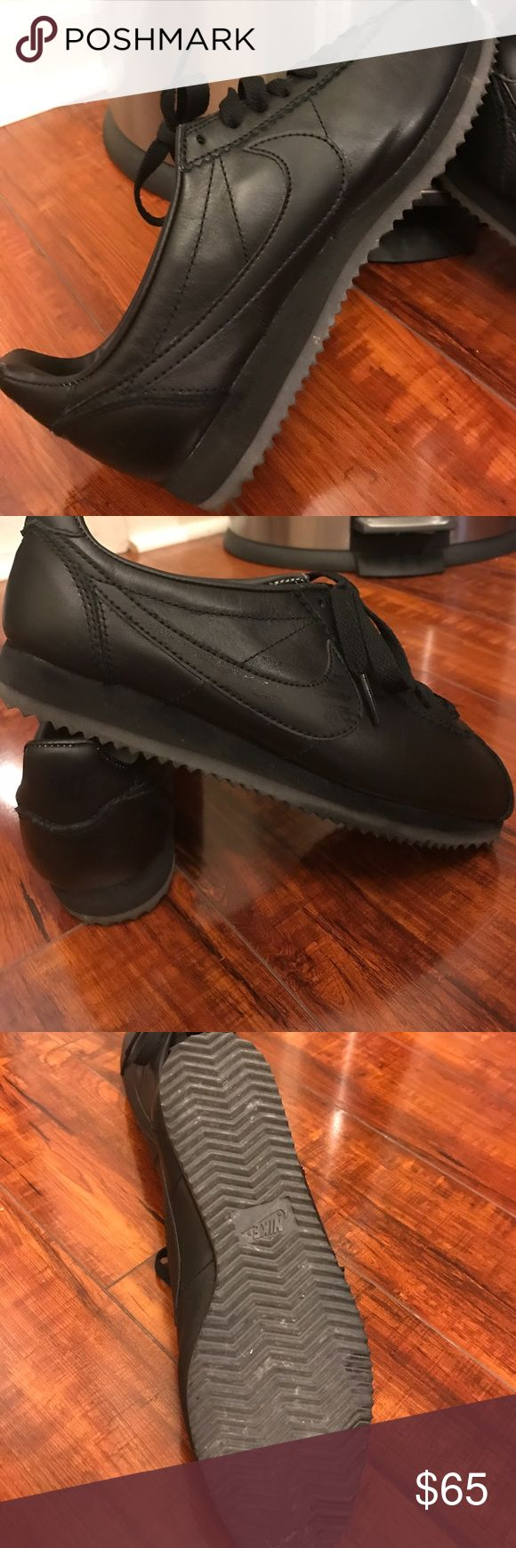"""💯 NIKE ID one of a kind Dope Mans 🖤🖤 Only worn twice, totally awesome """"Dope Man"""" NIKE, made on Nike ID BLACK ON BLACK 🖤🖤🖤 Nike Shoes Athletic Shoes"""