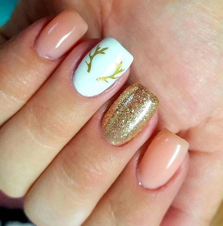 Gone Hunting Nail Decal | Gold Shimmer