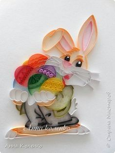 Картина панно рисунок Пасха Квиллинг Контурный квиллинг Бумажные полосы Клей фото 11