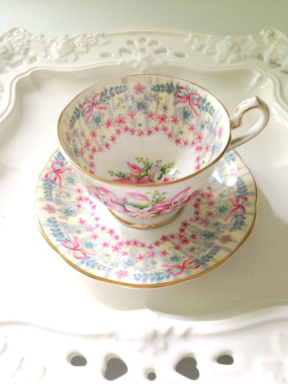English Fine Bone China Demitasse Tea Cup and by MariasFarmhouse, $39.00