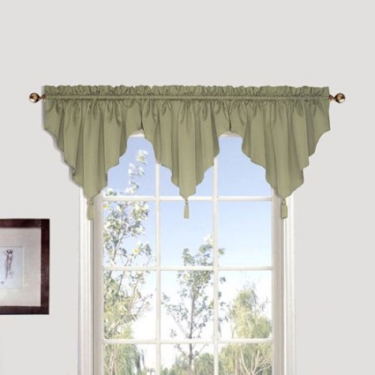 United Curtain Co., Inc. Sterling Coordinating Woven Ascot Valance