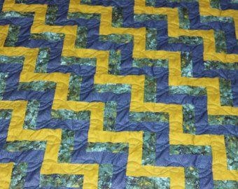 Edredones de patchwork colcha King Size por HillsideHobbyQuilts